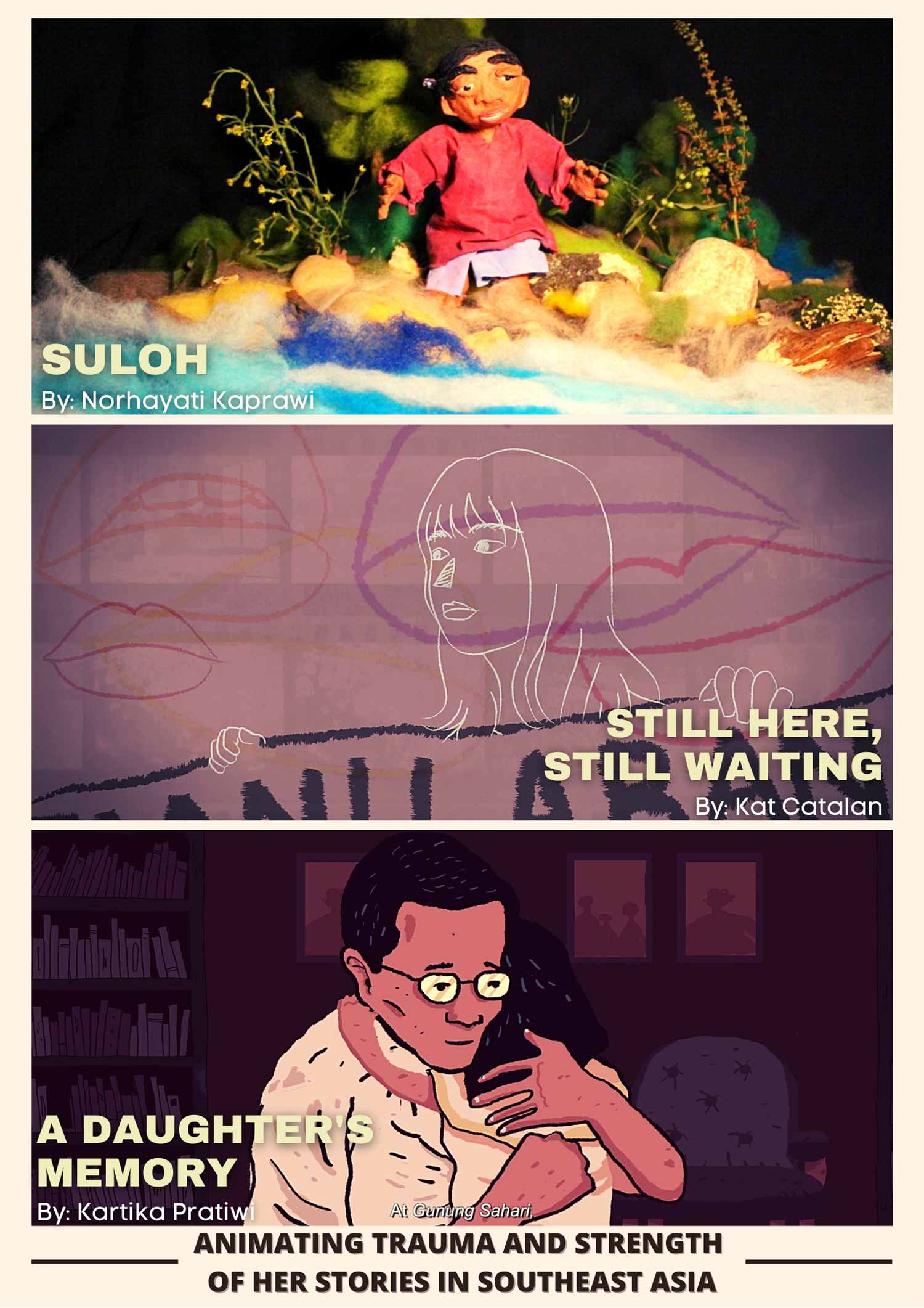 Animating HERstories of trauma and healing in South East Asia - A selection of 3 short animated documentaries followed by a panel discussion with the filmmakers. (FreedomFilmFest 2020)