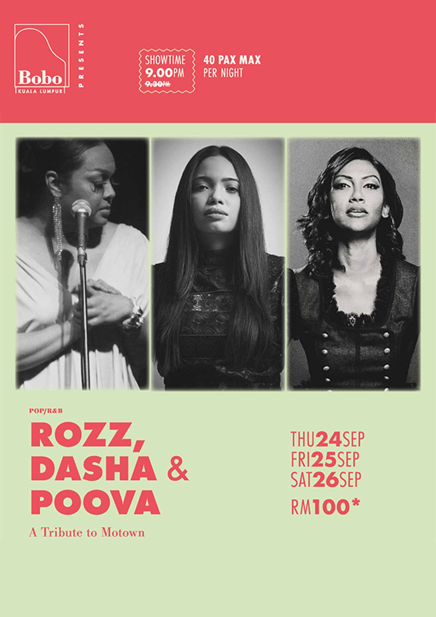Rozz, Poova & Dasha – A Tribute To Motown!