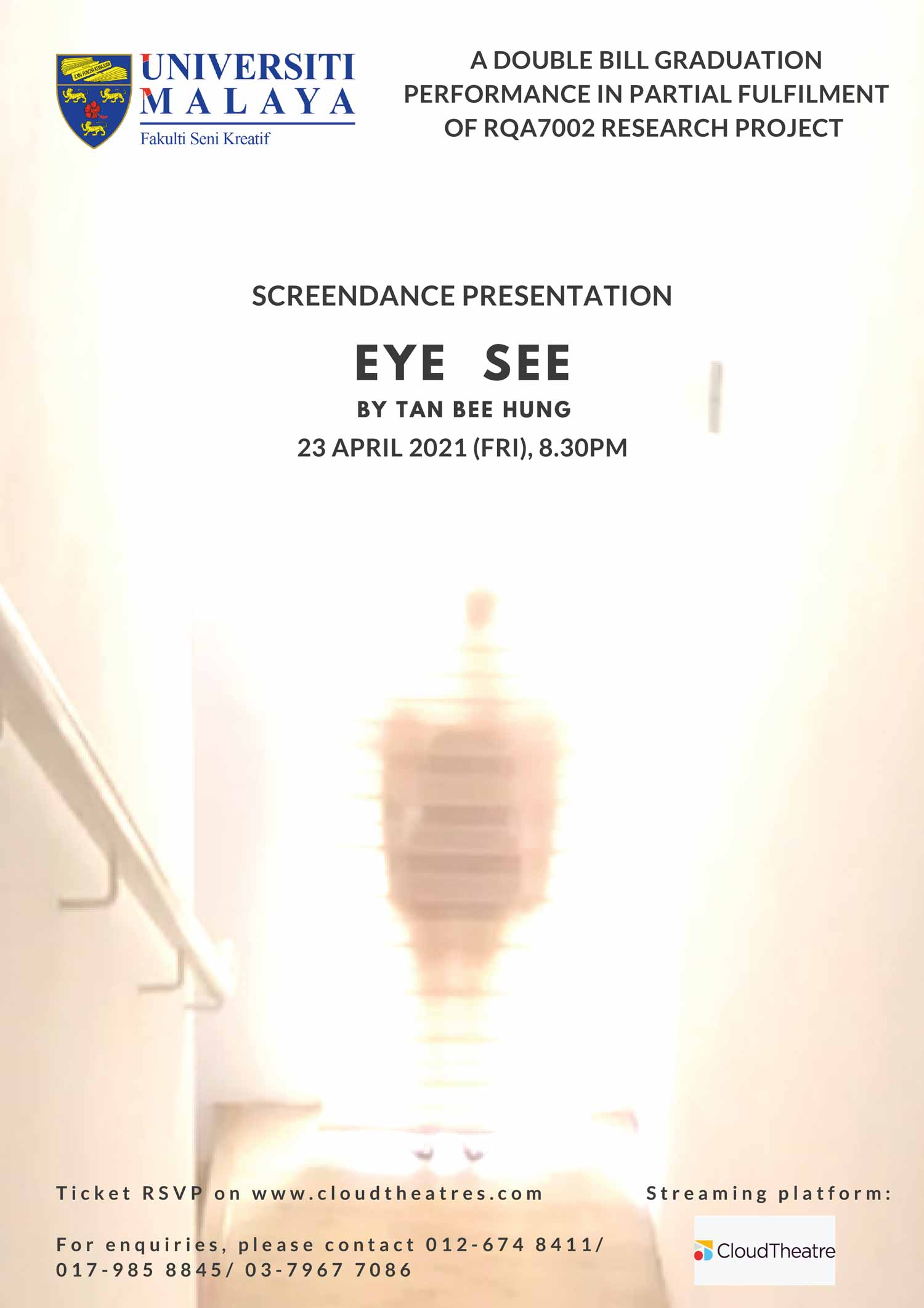 Eye See: A double bill graduation performance in partial fulfilment of  RQA7002 research project