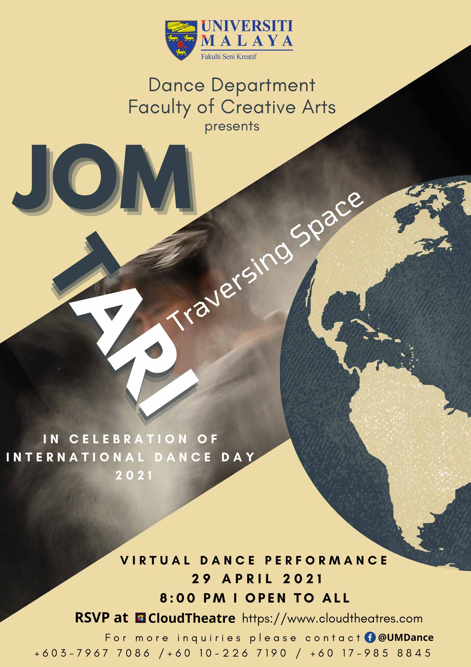 JOM TARI Traversing Space, Virtual Dance Performance, In Celebration of International Dance Day 2021
